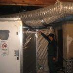 Personalschleuse mit Zwangsverriegelung für Arbeiten an mit Asbest belasteten Gebäuden