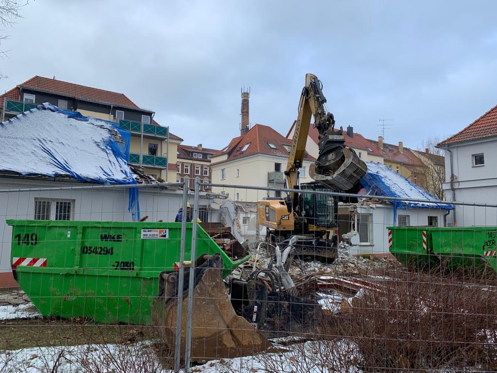 Abbrucharbeiten in Eilenburg