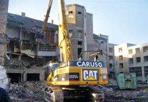 Industrieabbruch durch das Unternehmen Caruso Leipzig