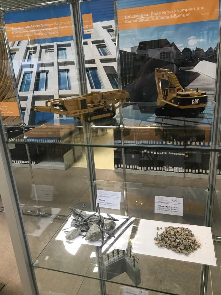 Dauerausstellung in Dresden zum Thema Recycling von Carbonbeton