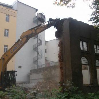 Abbruch einer Häuserwand