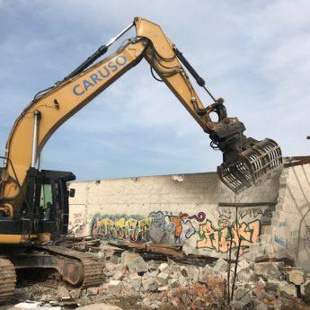 Abbruch von Mauer
