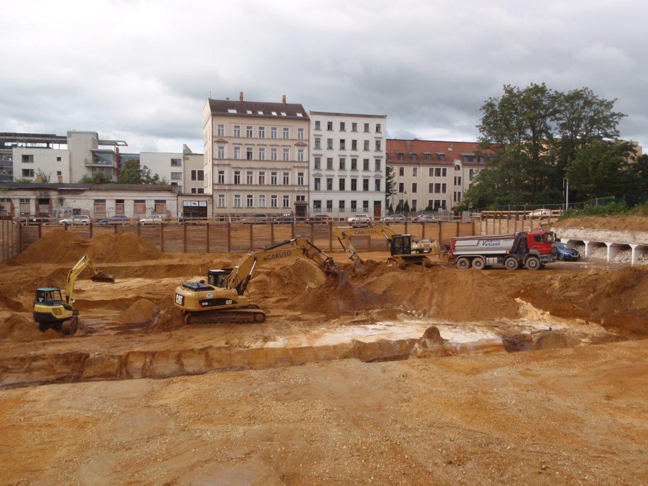 Bunkerabbruch schafft Platz auf dem Areal an der Goldschmidtstraße