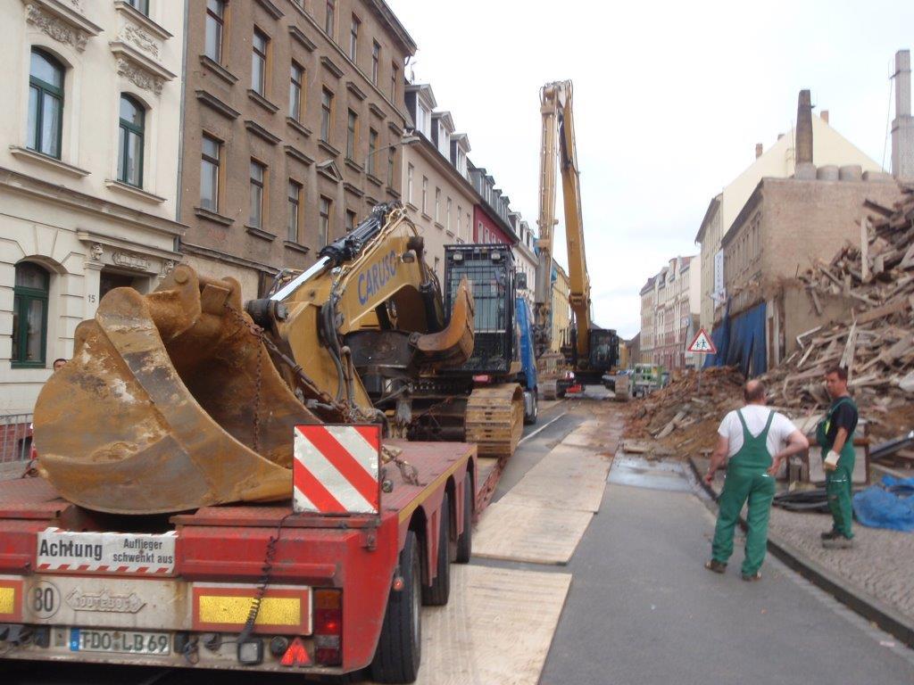 Leipzig: Sommerfelder Straße wegen einsturzgefährdeten Haus voll gesperrt