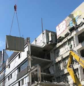 Gebäude Abbruch Bergung eines Reliefs