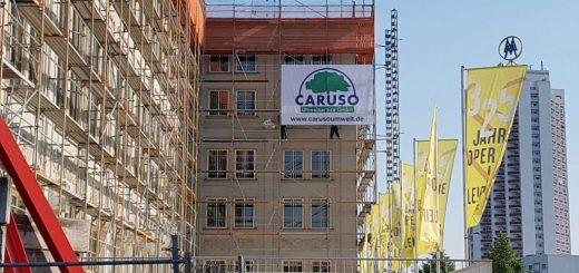Oper Leipzig mit Caruso Umwelt GmbH-Logo