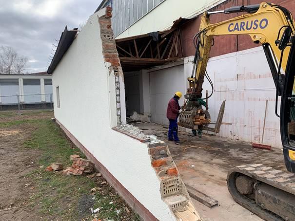 Abbruch Garage Wasserwerk Leipzig