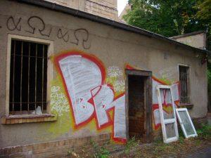 Gebäude vor Abriss