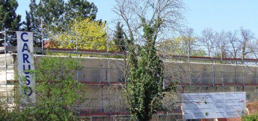 Abbriss eines Aerztehauses in Markkleeberg