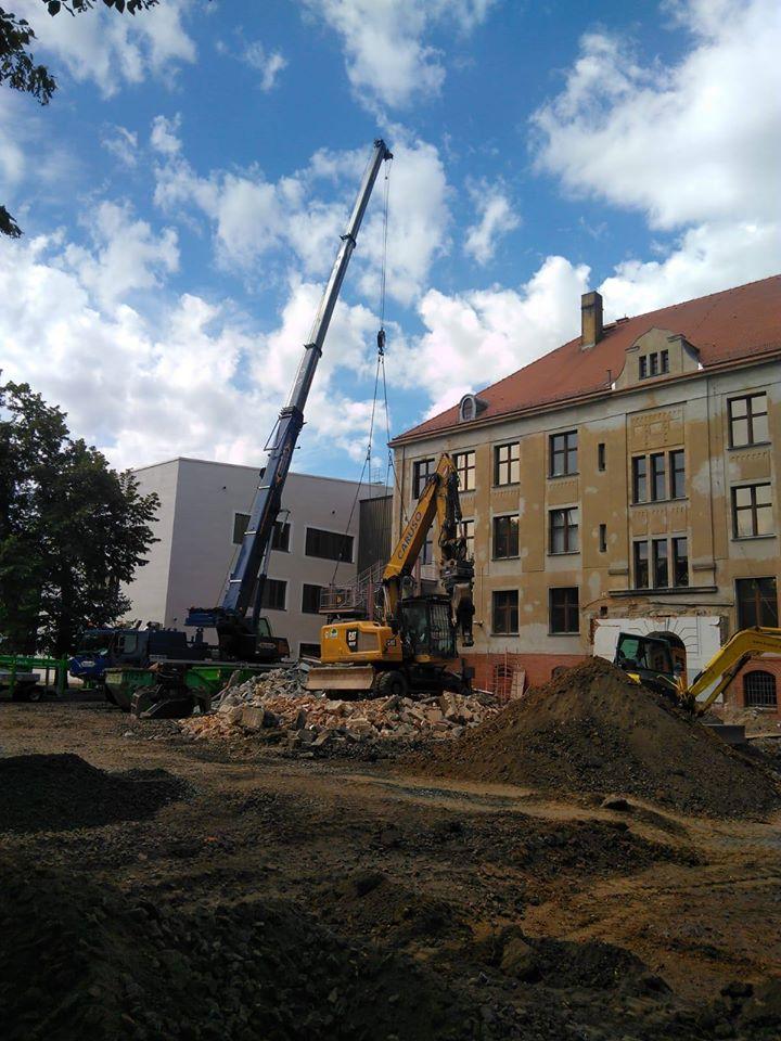 Abbruch an der 60. Grundschule in Leipzig