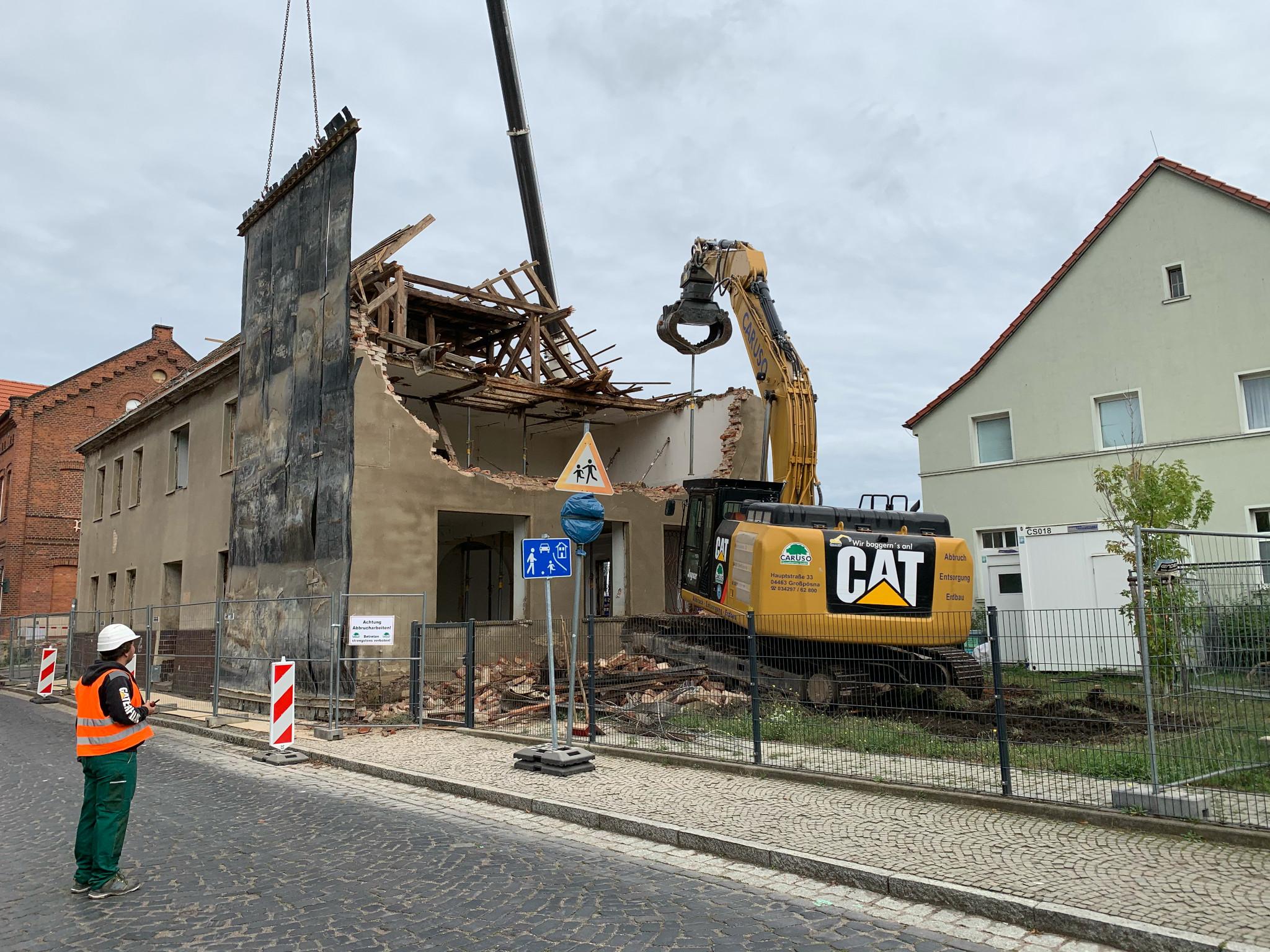 Abbruch Schulgebäude in Gräfenhainichen