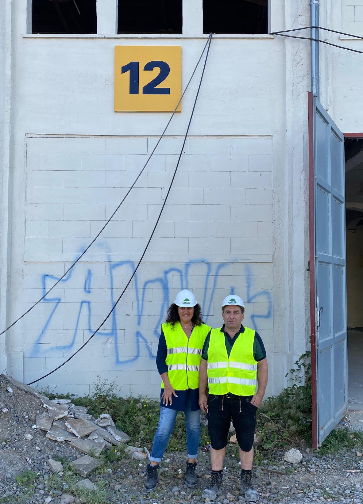 Baufortschritt in Messehalle 12