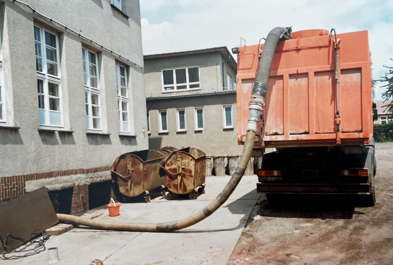 Einsatz im Kohlenkeller der Grundschule Großpösna