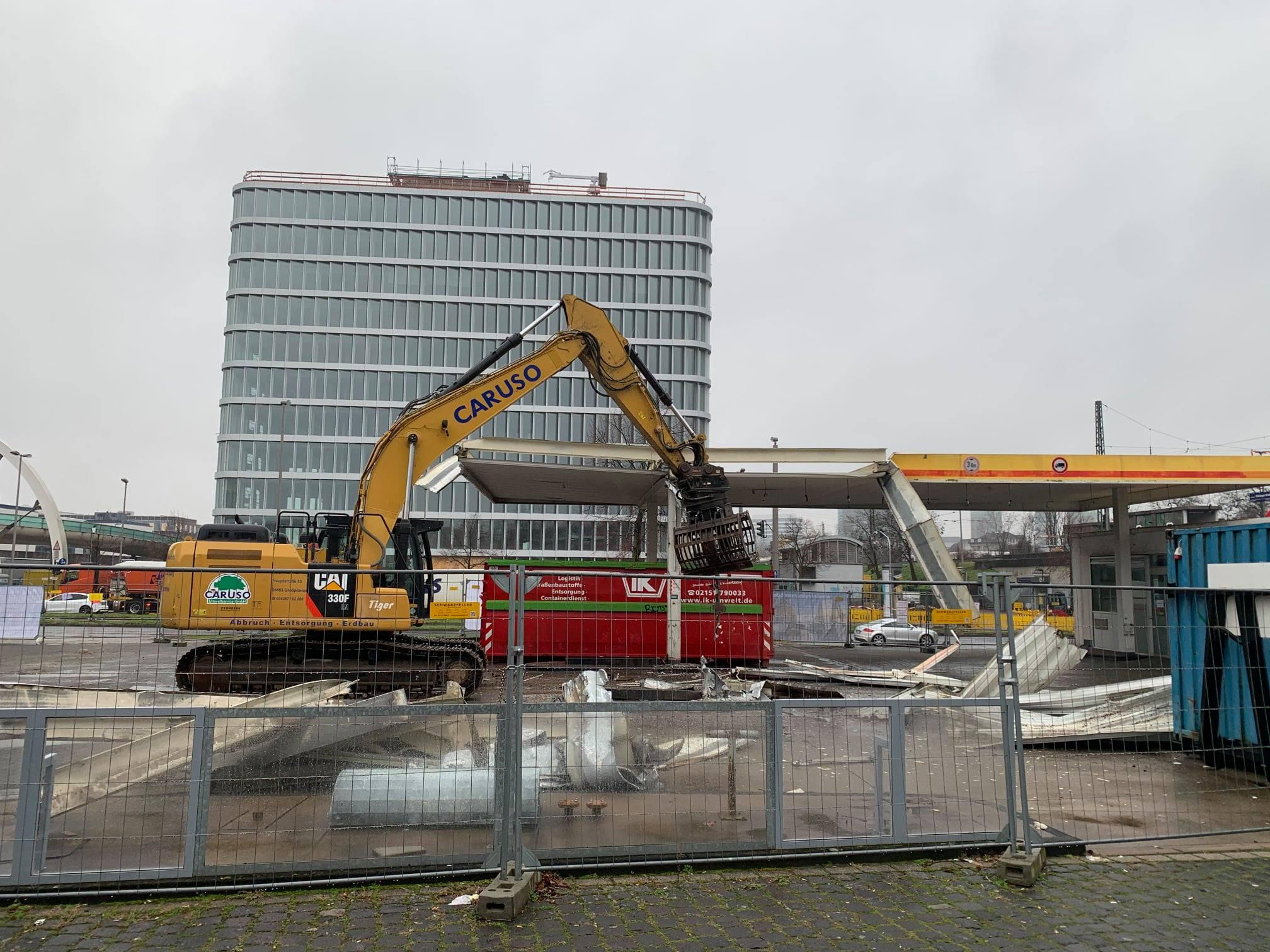 Rückbau Tankstelle in Düsseldorf-Bilk