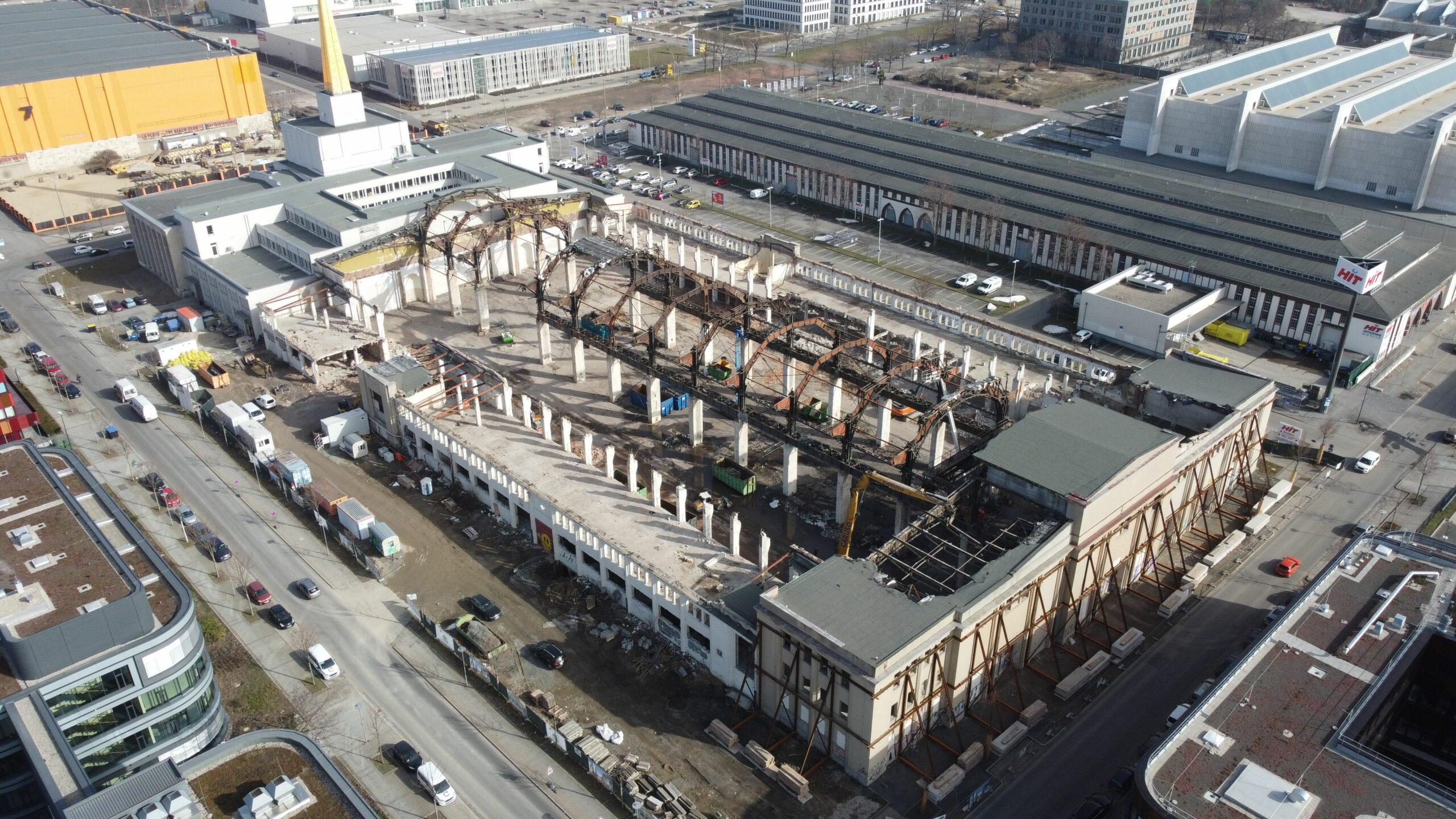 Messehalle 12 in Leipzig von oben