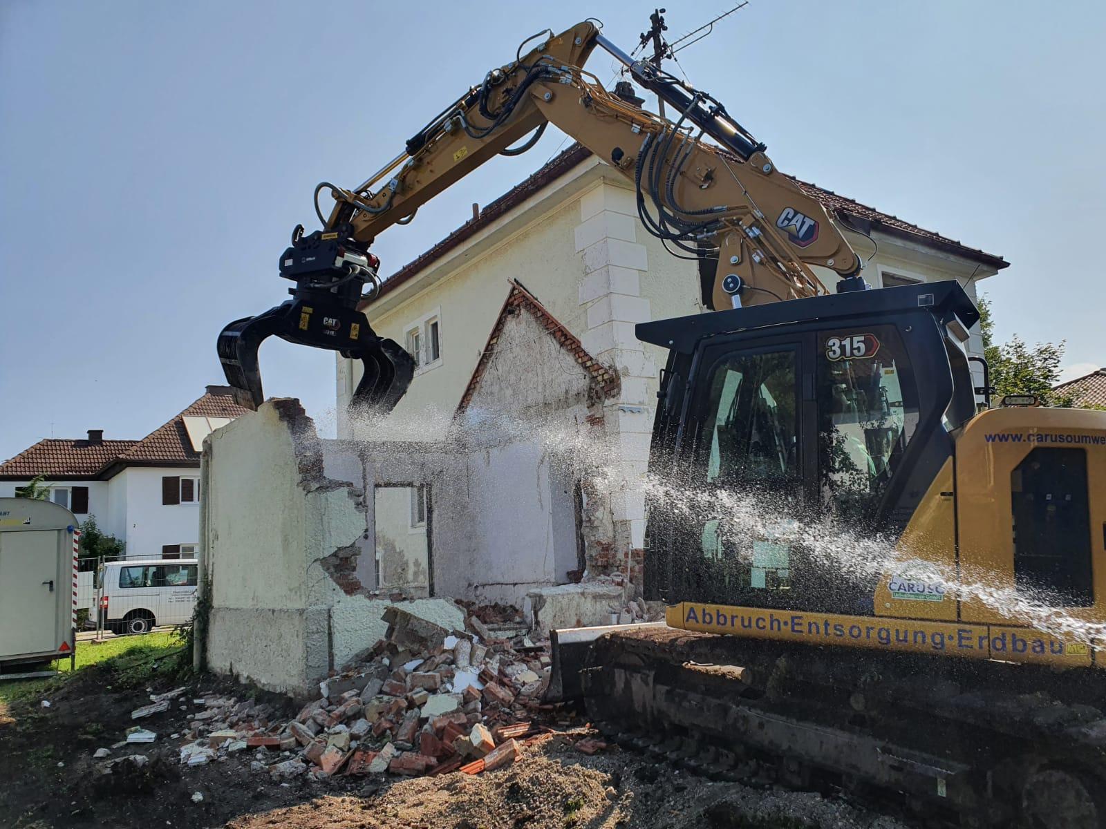 Abbruch eines Wohngebäudes in Penzberg